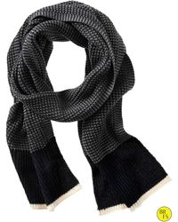 Banana Republic Factory Knit Scarf gray - Lyst