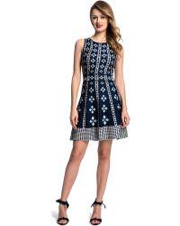 Cynthia Steffe Carmela Geo Print A Line Dress - Lyst