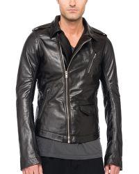 Rick Owens Stooges Leather Biker Jacket - Lyst
