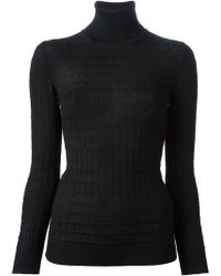 M Missoni Textured Knit Turtle Neck Sweater - Lyst