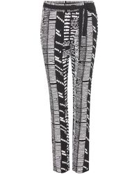Proenza Schouler Printed Crepe Trousers - Lyst