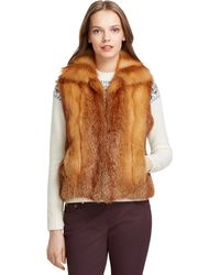Brooks Brothers Fox Fur Vest - Lyst