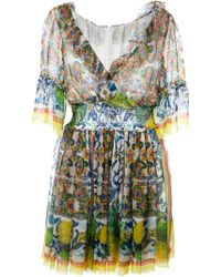 Dolce & Gabbana Multicolor Printed Dress - Lyst