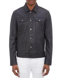 Marc By Marc Jacobs - Lambskin Denimstyle Jacket - Lyst
