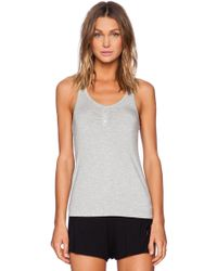 Splendid Shirred Front Tank - Lyst
