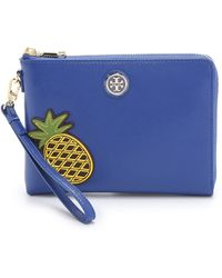 Tory Burch Robinson Pineapple Wristlet Pouch - Jelly Blue - Lyst