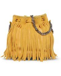 Stella McCartney | Falabella Sun Fringed Bucket Bag | Lyst