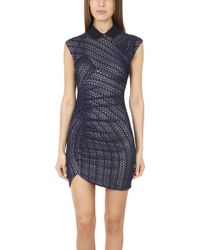 Charlotte Ronson Zig Zag Knit Bodycon Dress - Lyst