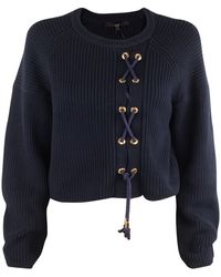 Tibi Lace Up Pullover Sweater - Lyst