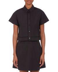 Proenza Schouler Poplin Crop Shirt - Lyst