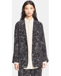 Rag & Bone 'Battle' Print Silk Jacket - Lyst