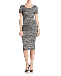 French Connection Bodycon Tea Length Dress - Lyst