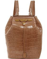 The Row Alligator Backpack - Lyst