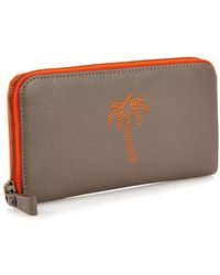 Tomas Maier - Embroidered Zip-Around Leather Wallet - Lyst