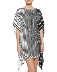 Halston Heritage Flowy-Back Caftan Dress - Lyst