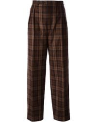 Yves Saint Laurent Vintage Checked Trousers - Lyst