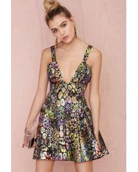 Nasty Gal Collection Great Escape Jacquard Dress - Lyst