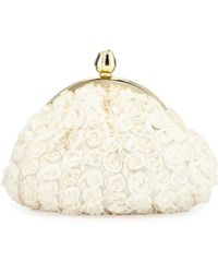 Betsey Johnson Rosette Clutch Bag - Lyst