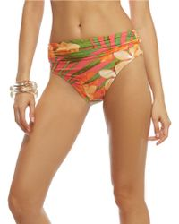 Carmen Marc Valvo - Tropical Banded Swim Bottom - Lyst