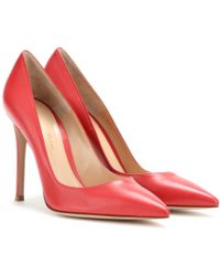Gianvito Rossi Red Leather Pumps - Lyst
