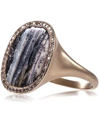 Monique Péan - Diamond Fossilised Mammoth Gold Ring - Lyst