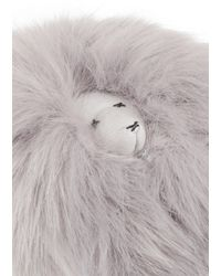 Shrimps - Lenny Faux Fur And Leather Keychain - Lyst