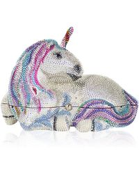 Judith Leiber Couture Unicorn Crystal Clutch Bag - Lyst