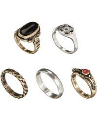 Asos Grunge Ring Multipack - Lyst