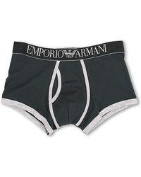 Emporio Armani Contrast Stretch Cotton Boxer Brief - Lyst