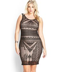 Forever 21 Nouveau Deco Bodycon Dress - Lyst