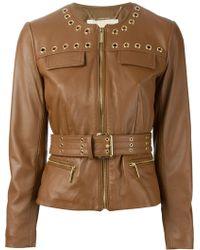 MICHAEL Michael Kors Belted Jacket - Lyst