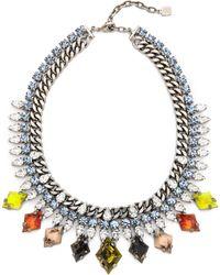 Dannijo Cayden Necklace Silvercrystalitalian Multi - Lyst