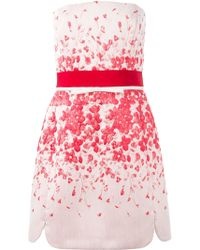 Giambattista Valli Floral Jacquard Strapless Dress - Lyst