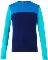 Richard Nicoll - Colour-block Wool-blend Sweater - Lyst