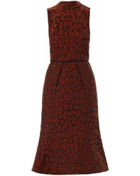 Camilla & Marc Animal Jacquard Dress - Lyst