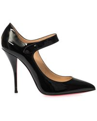 Christian Louboutin Neo Pensee 100Mm Patent-Leather Pumps - Lyst