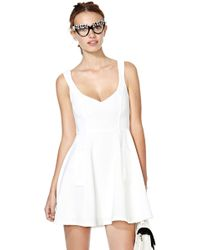 Nasty Gal Drawing A Blank Dress - Lyst
