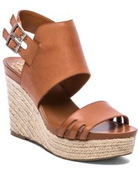 Vince Camuto Brown Temperton Wedge - Lyst