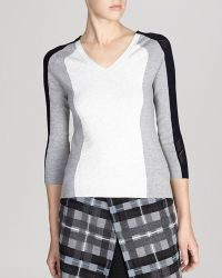 Karen Millen Sweater - Mesh Color Block Knit - Lyst