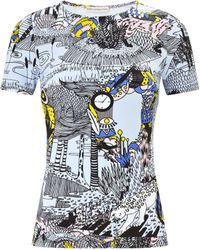 Mary Katrantzou Fitted T-shirt Forest Dew - Lyst