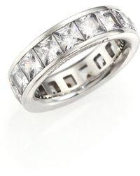 Michael Kors | Park Avenue Glam Princess Eternity Band Ring/silvertone | Lyst