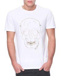 Alexander McQueen Skull Grill Outline Jersey Tee - Lyst