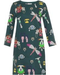 Mary Katrantzou Elio Symbol Print Shift - Lyst