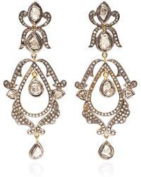 Kirat Young - Diamond Chandelier Earrings - Lyst