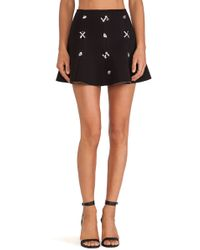 JOA Embellished Skirt - Lyst