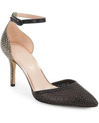 Enzo Angiolini Circini Two-Piece Ankle Strap Pumps - Lyst