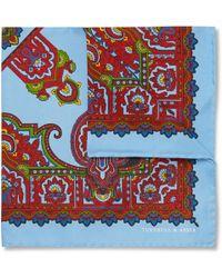 Turnbull & Asser Paisley-Print Silk Pocket Square - Lyst