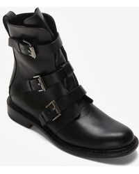Rag & Bone Hudson Buckled Moto Boot Black - Lyst