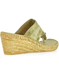Andre Assous   Annette Thong Wedge Espadrille   Lyst