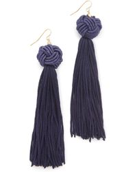 Vanessa Mooney - Astrid Knotted Tassel Earrings - Lyst